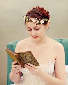 Flower crown, bridal hair accessory, wedding head piece, pink floral head piece - WENDY. $75.00, via Etsy.