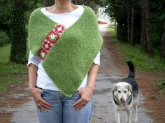 Green Afghan, Hand Knit Crochet Poncho- My Own Original Design-BYSWEETMOM Knitting Crochet Handmade Ponchos, Cowls, Scarfs, Wedding Bridal Shawls Boleros Shrugs
