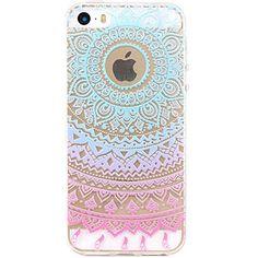 iPhone 5 Case, JIAXIUFEN TPU Silicone Gel Soft Clear Case Cover for Iphone 5 5S SE - Blue Purple Tribal Mandala, http://www.amazon.co.uk/dp/B01EFG0FVI/ref=cm_sw_r_pi_awdl_4ytzxbZM6V925