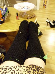 Crocheted slipper boots - now with tutorial - CROCHET