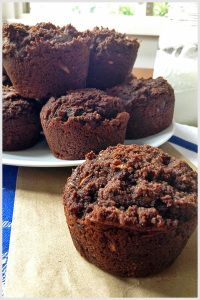 These Chocolate Chocolate Chunk Zucchini Muffins are a great way to get your chocolate sweet fix while still feeling healthy.