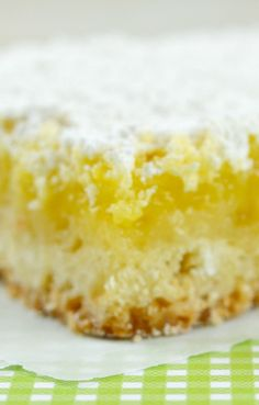"""""""Let's Open A Bakery Lemon Bars""""--Really delicious with just the right combo of sweet and tart"""