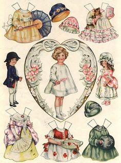 Vintage Paper Dolls - Sheila Young, Illustrator - Polly Pratt paperdolls that were available in Good Housekeeping magazines during the 1919-1921 timeframe