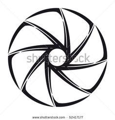 The stylized shutter of camera by Irina Mikhaylova, via ShutterStock Aperture Tattoo, Henna Doodle, Iris Eye, Iris Tattoo, Camera Drawing, Camera Tattoos, Gear Logo, Camera Shutter, Photo Logo