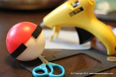 A mama with ideas...: D.I.Y. Pokeball... For An Ash Ketchum Halloween Costume