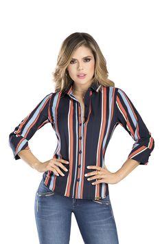 BLUSA VILLANUEVA DEL CATALOGO DE ROPA TYT 34419 Blouse, Long Sleeve, Sleeves, Women, Fashion, Staple Pieces, Silhouettes, Moda, Women's
