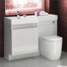 Basin & Oval Toilet Vanity Unit Combination Bathroom Suite Sink WC 1206 x 880mm | eBay