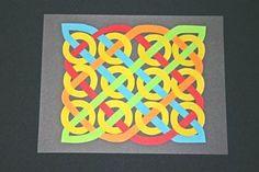 The Steps for How to Make the Easy Paper Crafts: Celtic Design 12 Circles: Celtic Crafts, Celtic Art, Celtic Dragon, Medieval Crafts, Construction Paper Art, St Patrick's Day Crafts, Family Crafts, Kid Crafts, 3rd Grade Art