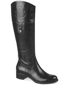 b70e08ade45 Franco Sarto Clarity Wide Calf Riding Boots   Reviews - Boots - Shoes -  Macy s
