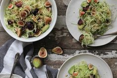 Fig Zucchini Pasta - I'll be making mine without the hemp seed!