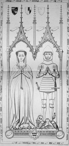 Juliana de Crewe c. 1411, St Milburga's Church, Wixford, Warwickshire, England (FEETS!)