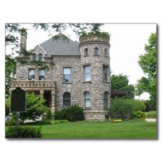 castle style homes | Castle Home Postcard from Zazzle.com