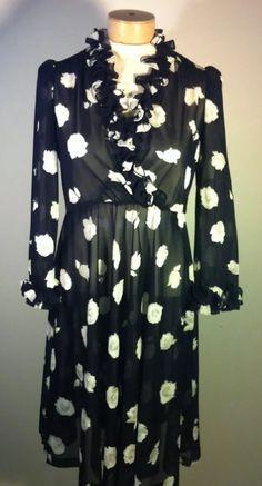 Sheer floral vintage dress.