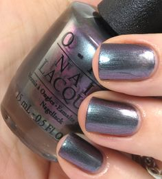 OPI San Francisco Collection Peace & Love & OPI.  Changes color in different light.  Green, gray, eggplant.  It's gorgeous!!!