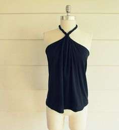 No Sew, DIY Tee-Shirt Halter #2--I need to make one of these before the summer is over.