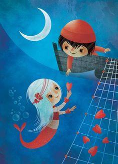 Gaia Bordicchia Illustrations: Piccola Sirena - Little Mermaid