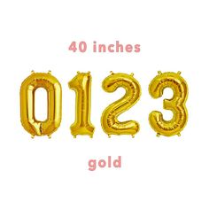 CUSTOM Number Balloons  40 Gold Number Balloons Photo Background Images, Photo Backgrounds, Gold Number Balloons, Trending Outfits, Handmade Gifts, Etsy, Mermaids, Events, Kid Craft Gifts