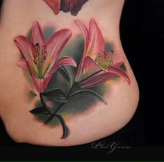 Lily tattoo, no ugly edging