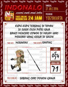 Prediksi Togel Online Live Draw 4D Indonalo Yogyakarta 27 Juli 2016