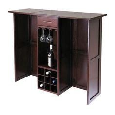 Amazon.com: Winsome Newport Expandable Wine Bar: Furniture & Decor