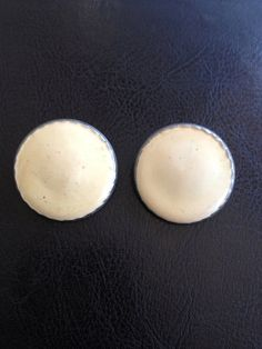 Vintage Enamel Clip On Earrings by LittleHouseofVintage on Etsy, $4.00