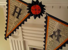 don't love the rest of the design but love the newspaper idea for a halloween banner