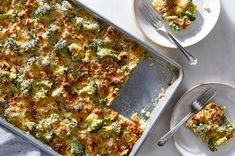 Sheet-Pan Broccoli Cheese Rice Casserole Recipe on Food52, a recipe on Food52