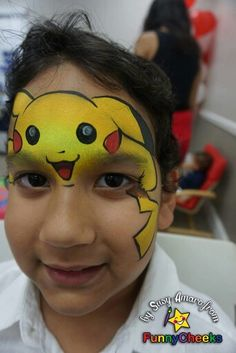 Pikachu face painting                                                                                                                                                     More