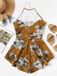 Adroit 2019 Floral Lace Bodysuit One Piece Mesh Transparent Jumpsuit Women Hot Body Femme Sheer Teddies Adjustable Bodysuits Latest Fashion Women's Clothing
