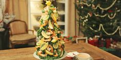 This recipe gives you all you need to produce an amazing shrimp tree appetizer for your dinner party guests! Lynn Crawford, Food Network Canada, Seafood Appetizers, Nye Party, Party Guests, Scallops, Shrimp Recipes, Food Network Recipes, Dinner