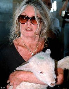 BRIGITTE BARDOT, Age 75 - a friend and advocate to animals.