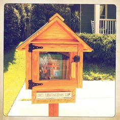 borrow a book boxes | ... in someone's yard. Borrow a book (or leave one) in the tiny library
