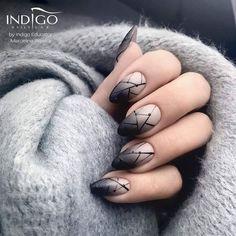 "6,380 Likes, 34 Comments - Indigo Nails (@indigonails) on Instagram: ""⚫⚪ Ombre z delikiatnym nudziakiem Milkshake Gel Polish by Marcelina Rawka Indigo Educator ⚫⚪…"""