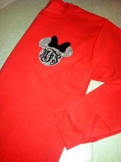 Adult Disney Glitter Monogram Sweatshirt by HaganElizabethDesign, $25.00
