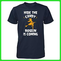 Hide The Candy Roselin Is Coming Halloween Gift - Unisex Tshirt Navy 2XL - Holiday and seasonal shirts (*Amazon Partner-Link)