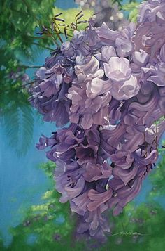 Jacaranda Tree Flowers Painting Nature Art By Michelle Caitens