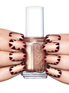 star-crossed - nail art by essie looks - nails - manicure Cute Nail Art Designs, Elegant Nail Designs, Elegant Nails, Toe Nail Designs, Classy Nails, Acrylic Nail Designs, Stylish Nails, Glittery Nails, Matte Nails