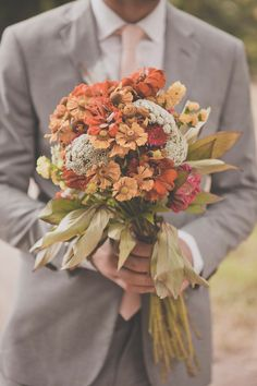 natural bouquet with shades of orange // photo by Terra Rothman