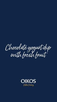 Chocolate yogurt dip with fresh fruit Fruit Recipes, Desert Recipes, Whole Food Recipes, Recipies, Snack Recipes, Cooking Recipes, Appetizer Dips, Appetizer Recipes, Chocolate Yogurt