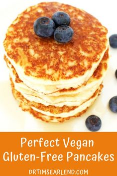 This Vegan Gluten-Free Pancake recipe is super easy, healthy and delicious for those mornings when you have no idea what to have for breakfast!