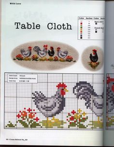Gallery.ru / Фото #8 - петушки и курочки - EditRR Chicken Cross Stitch, Cross Stitch Bird, Cross Stitch Animals, Cross Stitch Embroidery, Cross Stitch Patterns, Cross Stitch Kitchen, Easter Cross, Sampler Quilts, Chickens And Roosters