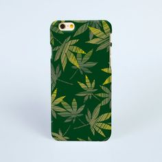 iPhone 7 Case Green cannabis leaves iPhone 7 plus Case, iPhone 6 Plus Case, iPhone 6 Case, iPhone 6s Case, iPhone 5s Case, iPhone Cases