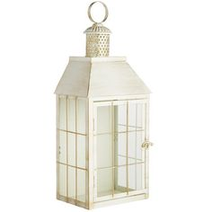 Lantern meets sconce in this Pier 1 exclusive. It's hand-painted and classically handsome with clean lines and charming details—rust-resistant iron, a cute cupola and a slightly weathered look. Simply open the door and add a candle for instant ambience, indoors or out.