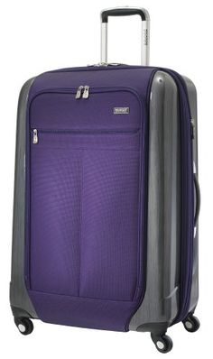 """Ricardo Beverly Hills Crystal City Expandable Upright Spinner Suitcase (28""""), Imperial Purple, Large"""