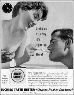 LUCKY STRIKE CIGARETTES  SATURDAY EVENING POST  07/23/1955  p. 42