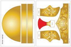 Modelo de capacete colorido romana imperial