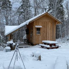 The cabin in the winter. My favorite place. Jared, @thefoxandcrowfarm #cabin #cabinlove #woodlandmills #farm #hm130 #sawmill #cabininthewoods #lumber #timber #diy # #cabinlife #rustic #wood #cabinvibes #outdoor #tinyhouse #newconstruction #discoverthewoodland Painting Galvanized Steel, Bandsaw Mill, Steel Channel, Powder Coat Paint, Water Drip, Cabin In The Woods, Building A Shed, New Construction, Rustic Wood