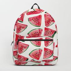 Watermelon Slices Backpack by catcoq Cute Mini Backpacks, Little Backpacks, Girl Backpacks, Sparkle Outfit, Diy Summer Clothes, Back To School Backpacks, School Accessories, Watermelon Slices, Cute Bags