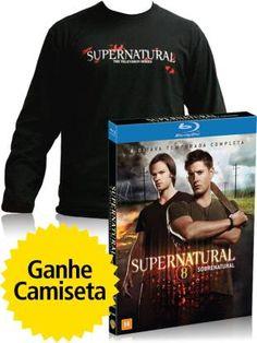 Compre blu-ray Supernatural 8ª Temporada e ganhe uma camiseta