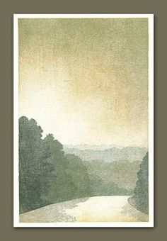 """woodcut print: """"road into town"""" - so atmospheric"""